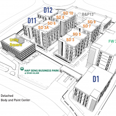 Hap Seng Industrial Hub - building naming plan